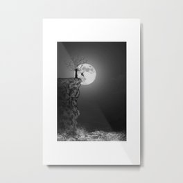 To the moon and never back Metal Print