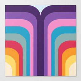 Retro Rainbow 02 Canvas Print