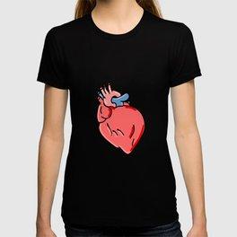 Human Heart Cartoon T-shirt
