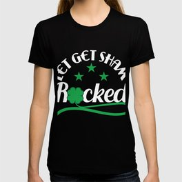 "T-shirt Design Get this cool St.Patrick's Day Souvenir Featuring The Text ""Let's Get Sham Rocked"" T-shirt"