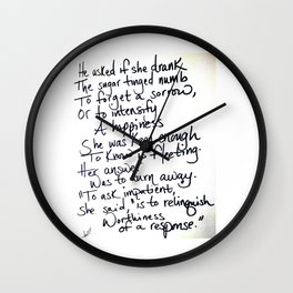 Sugar Numb Wall Clock