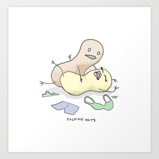 Nuts! Art Print