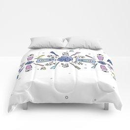 geometric flower crown Comforters