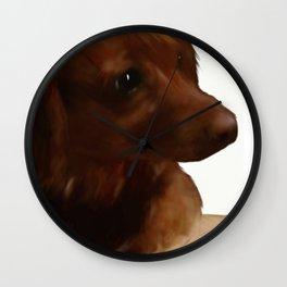 Darling Teddi Dachshund - Seated Wall Clock