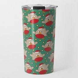 Red Christmas Robins Travel Mug