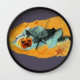 Wolves don´t know what Halloween is (c) 2017 Wall Clock