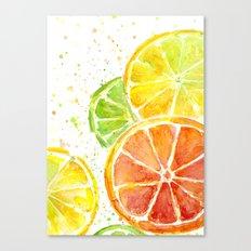 Fruit Watercolor Citrus Canvas Print