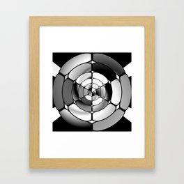 Chromed black and white Framed Art Print