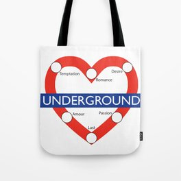 Love Underground Tote Bag