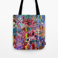 wooden Tote Bags featuring wooden highlands by donphil