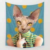 polka dot Wall Tapestries featuring DOT by Julia Lillard Art