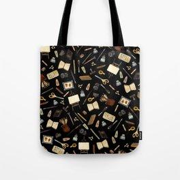 Creative Artist Tools - Watercolor on Black Tote Bag