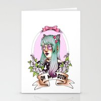 pastel goth Stationery Cards featuring Oh my GOTH! by Raquel Amo Art