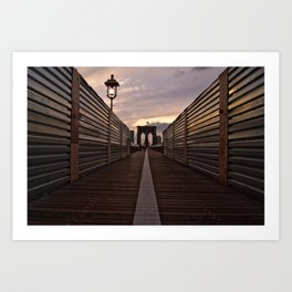 Brooklyn Bridge Walk Art Print
