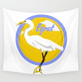 Egret Wall Tapestry