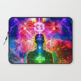 Ohm Chakra Cosmic Psychedelic Yoga Meditation  Laptop Sleeve