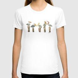 Perched Pelicans T-shirt