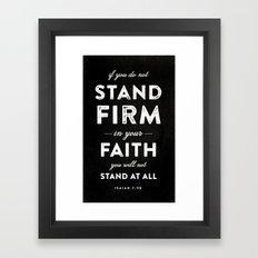 Isaiah 7:9b Framed Art Print