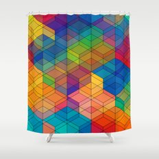 Cuben Intense No.2 Shower Curtain