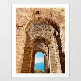 Roman villa, ancient Rome, Sirmione, lake Garda, Grottoes of Catullus Art Print