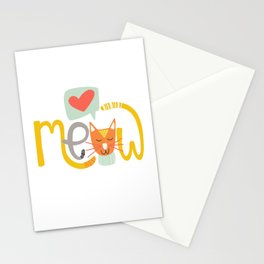 Meow Love Stationery Cards