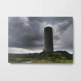 Vermont Silo Metal Print