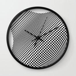 Weaving checker Wall Clock