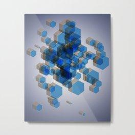 3D Hexagon Background Metal Print