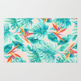Tropical Paradise Pale Peach Rug