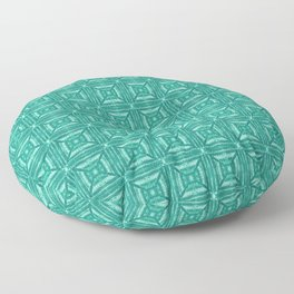 Turquoise Green Square Tile Floor Pillow