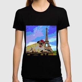 A Pug in Paris T-shirt