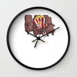Cinema Lover Film Lover Popcorn Fan Movie Partner Design Wall Clock