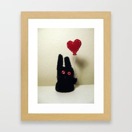 Bun Balloon Framed Art Print