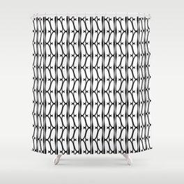 Eta #2- Greek Fonts Patterns_Alphabet Shower Curtain