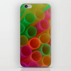 Colorful Straws Photo iPhone & iPod Skin