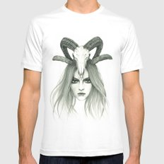 Zodiac - Aries Mens Fitted Tee MEDIUM White
