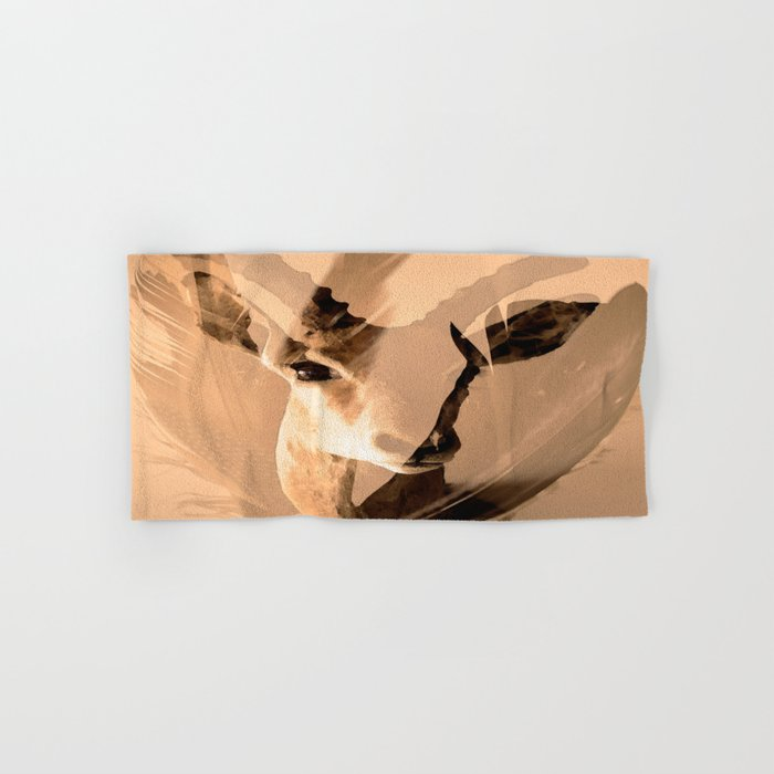 Beautiful and fast - Impala portrait Hand & Bath Towel
