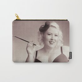 """""""Of Corset Darling"""" - The Playful Pinup - Vintage Corset Pinup Photo by Maxwell H. Johnson Carry-All Pouch"""
