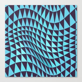 Abstract Seamless Triangles and Waves Pattern Canvas Print