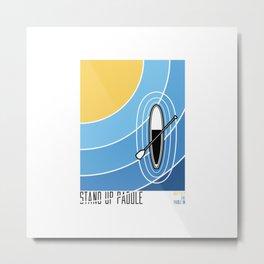Standup Paddle 1 Metal Print