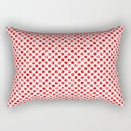 Polka Dot Red and Pink Blotchy Pattern Rectangular Pillow