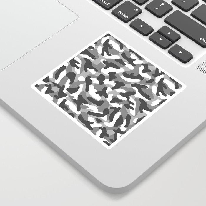 Grey Gray Camo Camouflage Sticker