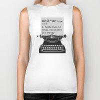 writer Biker Tanks featuring Writer Defined by Nicole Austin