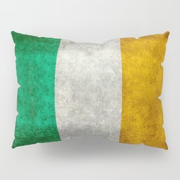 Republic of Ireland Flag, Vintage grungy Pillow Sham