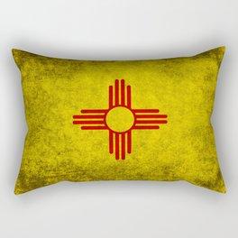 Flag of New Mexico - vintage retro style Rectangular Pillow