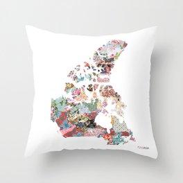 Canada map Throw Pillow