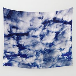deep blue clouds Wall Tapestry