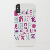 alphabet iPhone & iPod Cases featuring Alphabet by Linzie Hunter