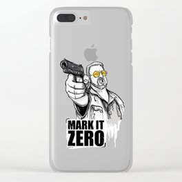 Mark it zero, the big lebowski Clear iPhone Case
