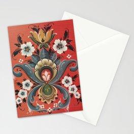 Rosemaling Vintage Design  Stationery Cards